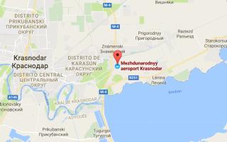 Карта аэропорта Краснодара «Пашковский»