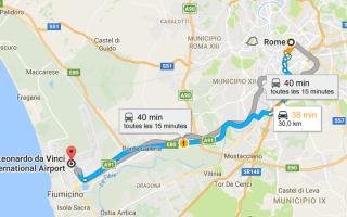 Карта аэропорта Фьюмичино в Риме